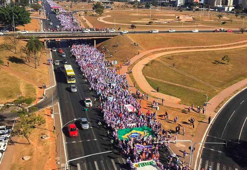 Fotos – Mulheres da FACESP na 6ª Marcha das Margaridas