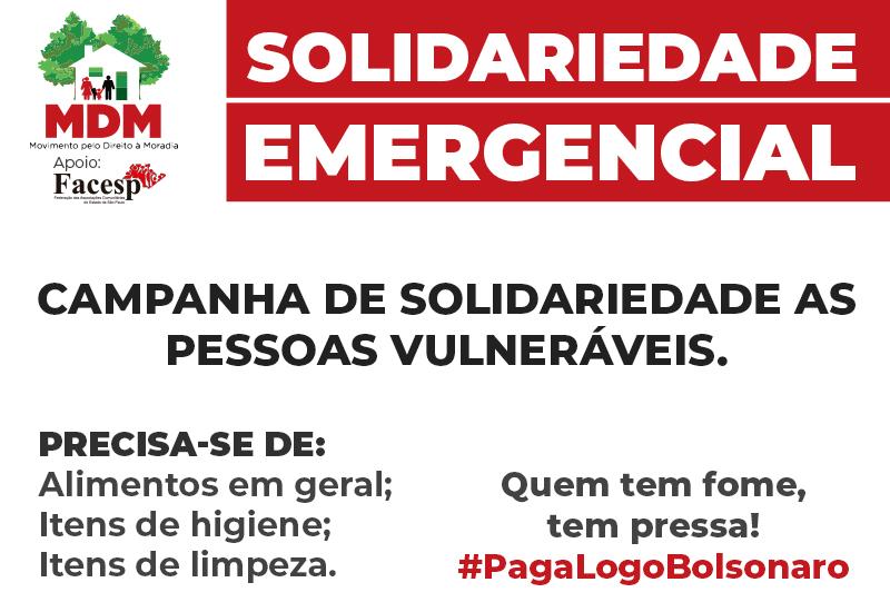 Campanha Solidariedade Emergencial – Facesp