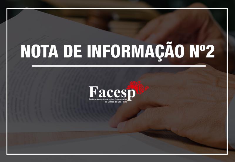 Facesp – Nota de Informação nº 02