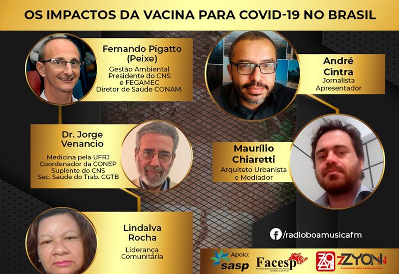 Programa Direitos Humanos e Cidades – Rádio Boa Musica FM | Os Impactos da Vacina para COVID-19 no Brasil