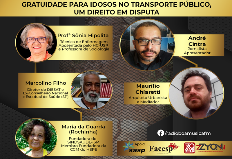 Programa Direitos Humanos e Cidades – Rádio Boa Musica FM | Gratuidade para idosos no transporte público, um direito em disputa