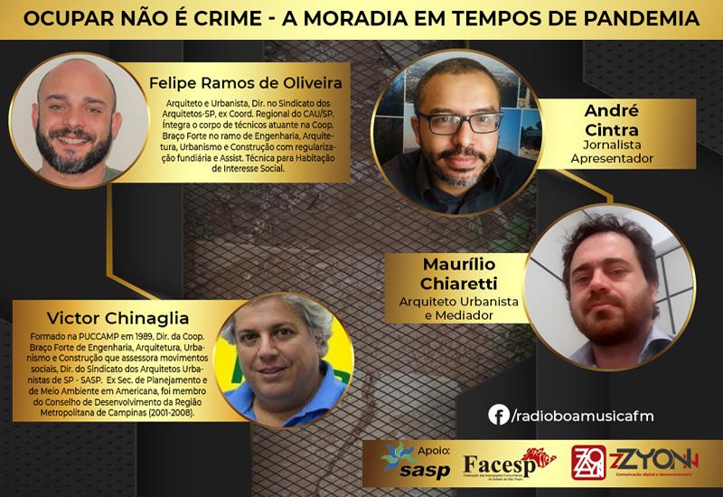 Programa direitos humanos e cidades – Rádio Boa Musica Fm | Ocupar não é crime – A moradia em tempos de pandemia