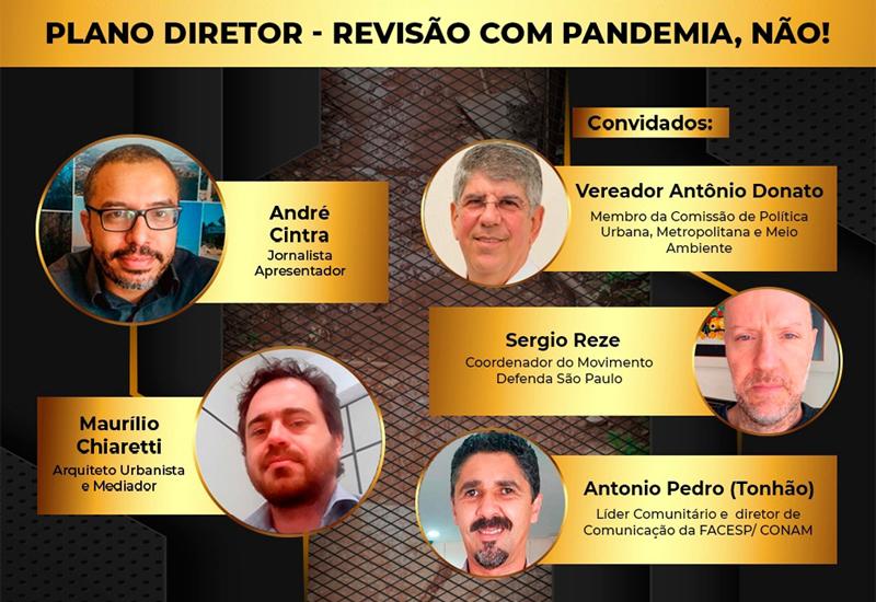 PROGRAMA DIREITOS HUMANOS E CIDADES – RÁDIO BOA MUSICA FM   Plano Diretor – Revisão com Pandemia, NÃO